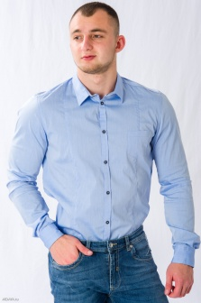Рубашка мужская ALTATENSIONE Uomo Голубой