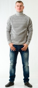 Водолазка мужская GLENFIELD Серый