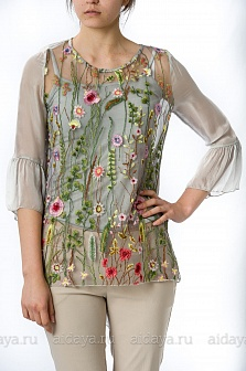 Блуза женская Mity Серый
