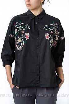 Рубашка женская Elisa Immagine Черный