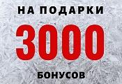 3000 бонусов для своих на подарки