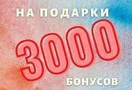 3000 бонусов на подарки к празднику